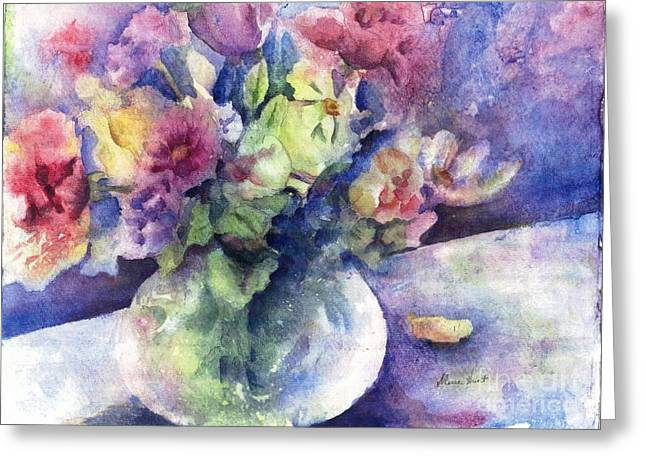 Floral Still Life Greeting Cards - Flowers From the Imagination Greeting Card by Maria Hunt