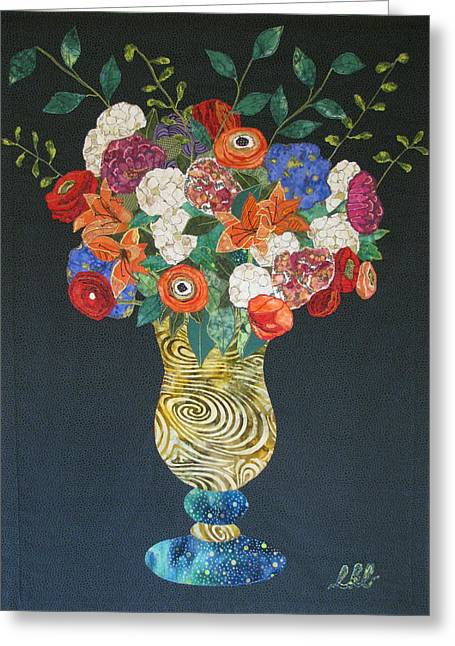 Glass Vase Greeting Cards - Flowers Gone Wild Greeting Card by Lynda K Boardman
