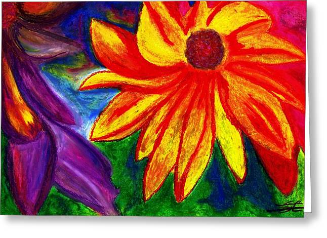 Flowers I Greeting Card by Carla Sa Fernandes