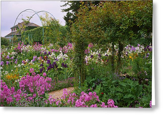 Garden Scene Greeting Cards - Flowers In A Garden, Foundation Claude Greeting Card by Panoramic Images