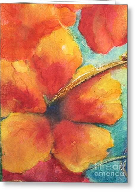 Flowers In Bloom Greeting Card by Chrisann Ellis