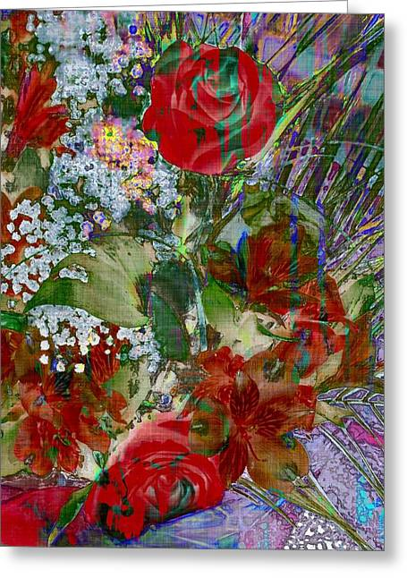 Daubs Greeting Cards - Flowers In Bloom Greeting Card by Liane Wright