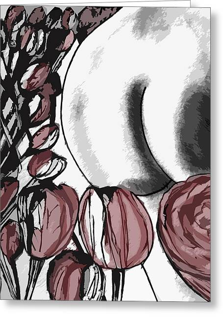 Butt Cheeks Greeting Cards - Flowers Greeting Card by Max Passler