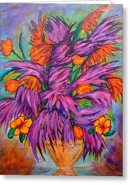 Santa Cruz Ca Paintings Greeting Cards - Flowers of Passion Greeting Card by Phoenix The Moody Artist