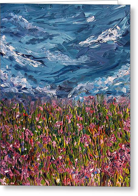 Flowers Of The Field Greeting Card by Meaghan Troup