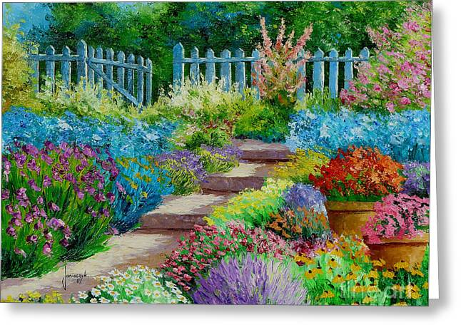 Flower Blossom Greeting Cards - Flowers of the Garden Greeting Card by Jean-Marc Janiaczyk