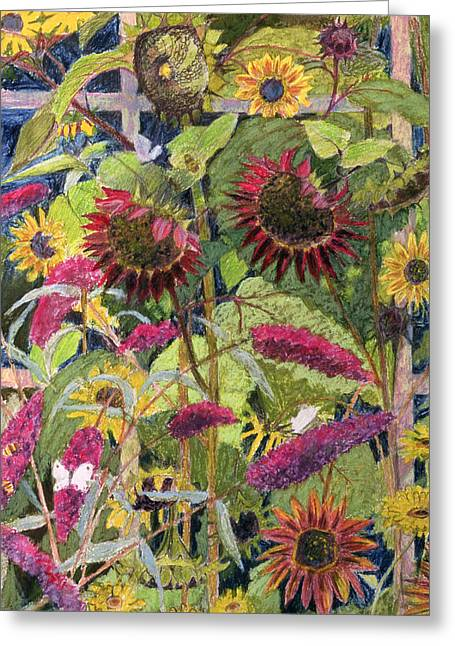 Flower Drawings Greeting Cards - Flowers Of The Sun Greeting Card by Rosalie Bullock