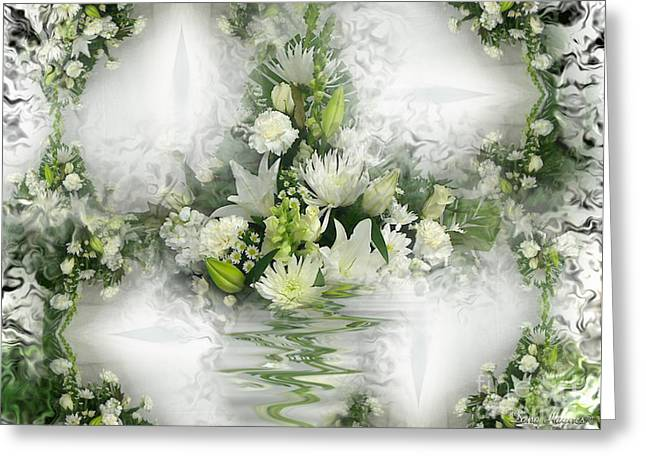 Mystic Art Greeting Cards - Flowers On The Wall Greeting Card by Dana Haynes