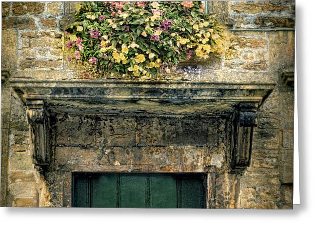Flowers Over Doorway Greeting Card by Jill Battaglia