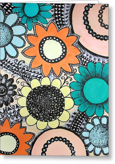 Home Art Greeting Cards - Flowers paradise Greeting Card by Home Art