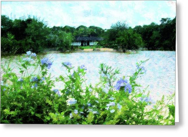 Florida Flowers Mixed Media Greeting Cards - Flowers Point Of View Greeting Card by Florene Welebny