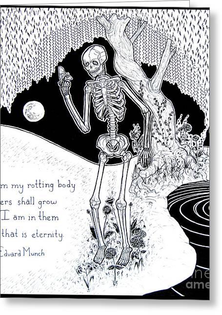 Edvard Greeting Cards - Flowers Greeting Card by Priyaa Treu