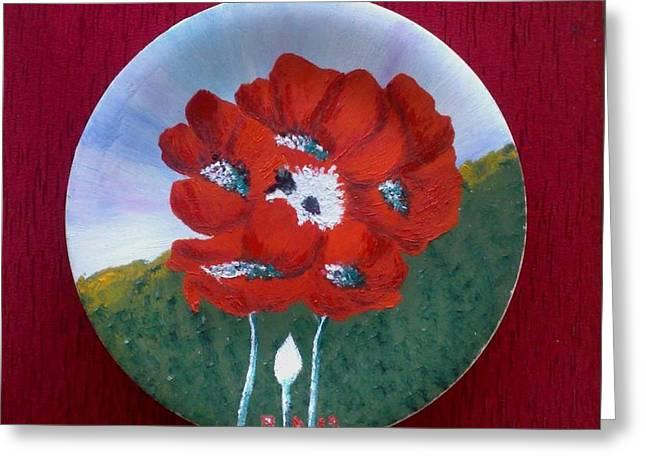 Flowers Ceramics Greeting Cards - Flowers Greeting Card by Ramadan Agolli