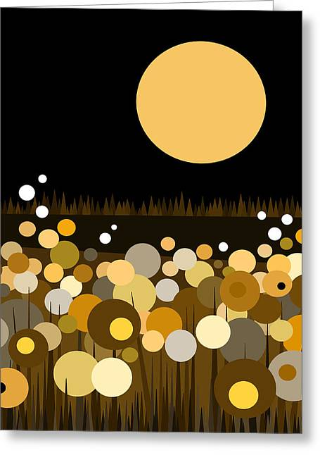 New At Digital Greeting Cards - Flowers Still Bloom at Night Greeting Card by Val Arie