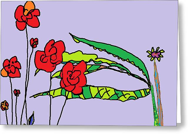 Flowers Sculptures Greeting Cards - Flowers Greeting Card by Willie Anicic
