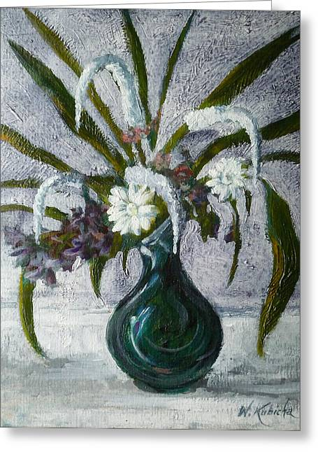 Flowers Greeting Card by Witold Kubicha