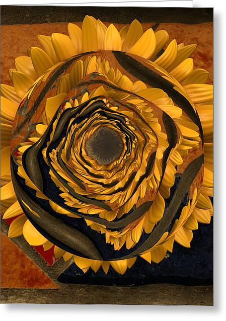 Flowers Digital Art Greeting Cards - Flowersun - 09279ff223a01222 Greeting Card by Variance Collections