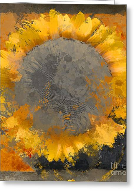 Flowers Digital Art Greeting Cards - Flowersun - 09279gmn22b3ba13a Greeting Card by Variance Collections