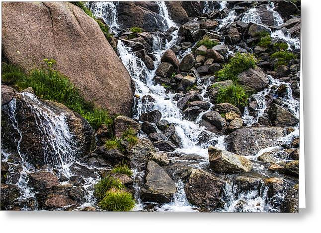 New Balance Greeting Cards - Flowing Greeting Card by Aaron Spong