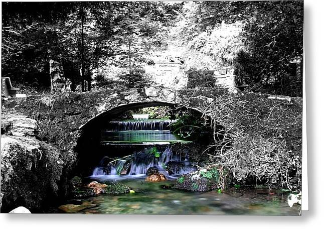 Flowing Wells Greeting Cards - Flowing Greeting Card by Eddie Armstrong