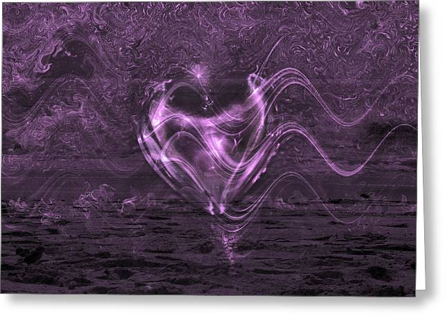 Fineartamerica Greeting Cards - Flowing Heart Greeting Card by Linda Sannuti