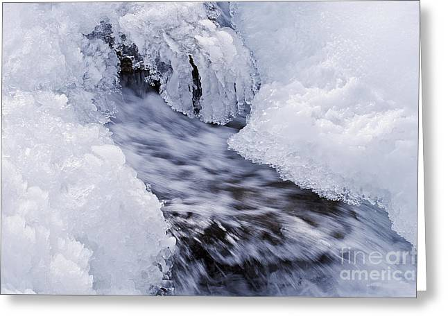 White Salmon River Greeting Cards - Flowing Greeting Card by Simona Ghidini
