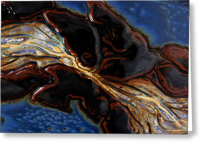 Nature Ceramics Greeting Cards - Flowing Textures Greeting Card by Gail Frasier