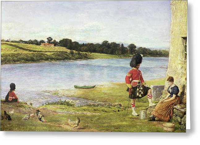 Pre-raphaelites Greeting Cards - Flowing To The Sea, 1871 Greeting Card by Sir John Everett Millais