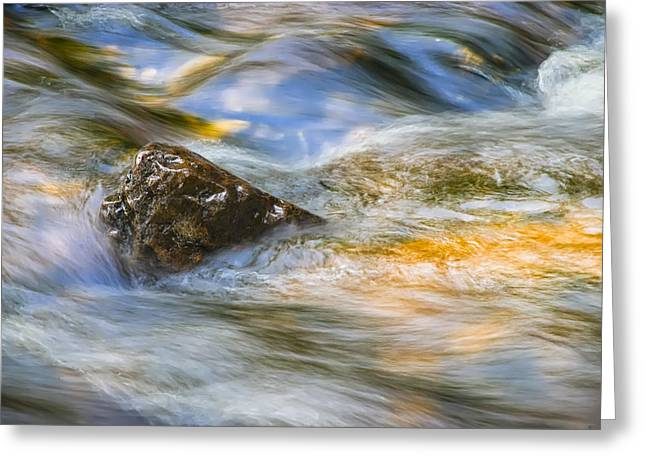 Rapids Photographs Greeting Cards - Flowing Water Greeting Card by Adam Romanowicz