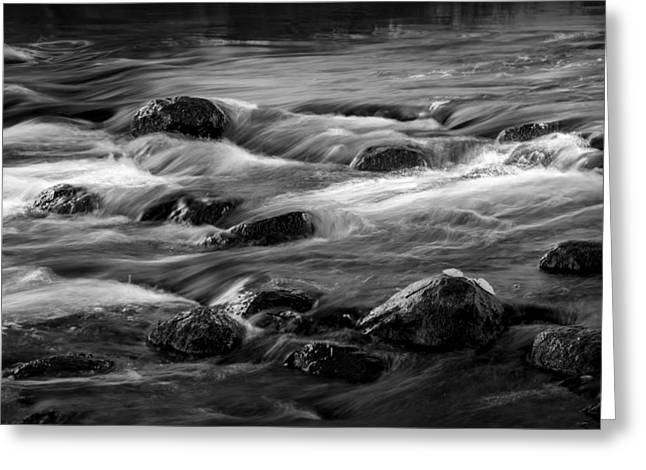 Thorn Apple Greeting Cards - Flowing Water on the Thornapple River Greeting Card by Randall Nyhof