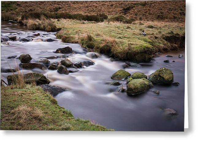 Long Exposure Greeting Cards - Flowing Water Through The Valley. Greeting Card by Daniel Kay