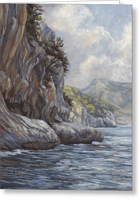 Water Flowing Paintings Greeting Cards - Flowing Waters Greeting Card by Lucie Bilodeau