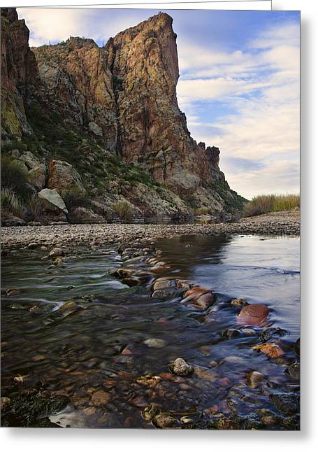 Flowing Waters Of The Salt River Greeting Card by Dave Dilli