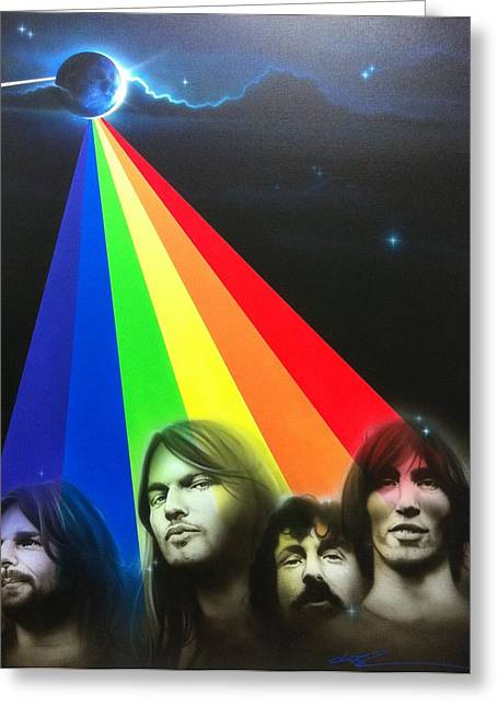 Hippy Greeting Cards - Floyd Greeting Card by Christian Chapman Art