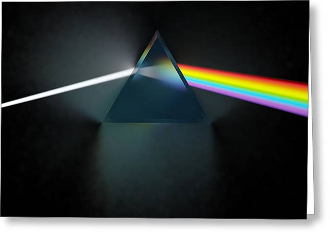 Pink Prints Greeting Cards - Floyd in 3D Simulation Greeting Card by Meir Ezrachi