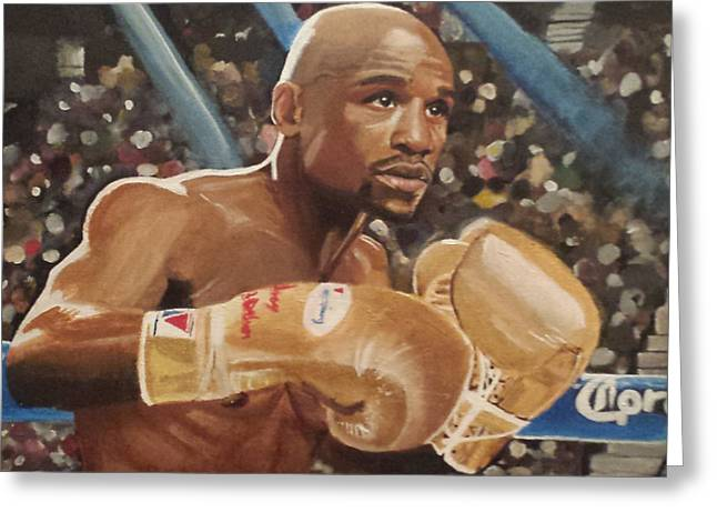Floyd Mayweather Jr Greeting Card by Jason Majiq Holmes