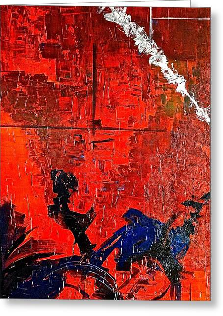 Pallet Knife Greeting Cards - Fluctuation NO1 Greeting Card by Rob Van Heertum