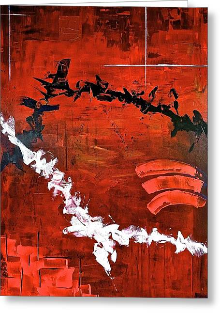 Pallet Knife Greeting Cards - Fluctuation NO2 Greeting Card by Rob Van Heertum