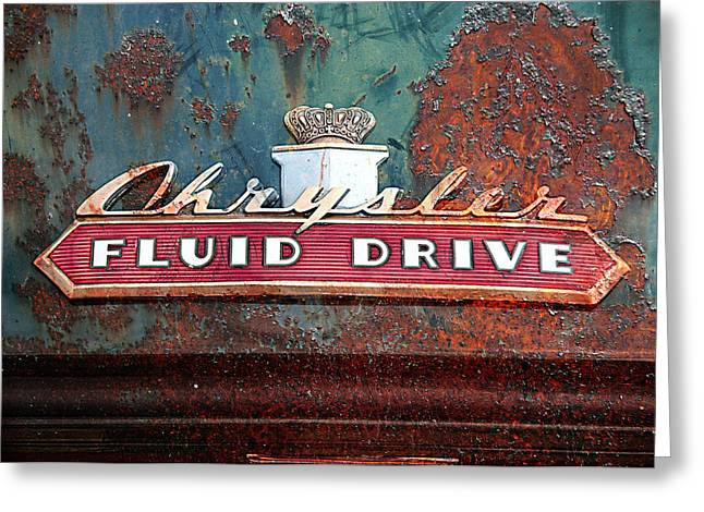 Rusted Cars Digital Art Greeting Cards - Fluid Drive Greeting Card by Greg Sharpe
