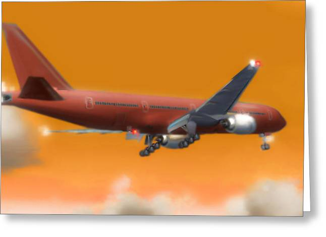 Passenger Plane Mixed Media Greeting Cards - Fluid Dynamics Greeting Card by Marcello Cicchini