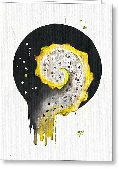 Helix Paintings Greeting Cards - Fluidity 06 - Elena Yakubovich Greeting Card by Elena Yakubovich
