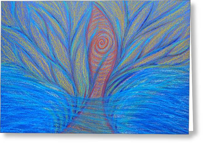 Transformations Pastels Greeting Cards - Fluidity Greeting Card by Jamie Rogers