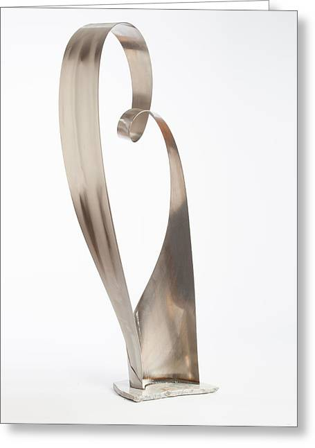 Silver Sculptures Greeting Cards - Fluidity Greeting Card by Jon Koehler