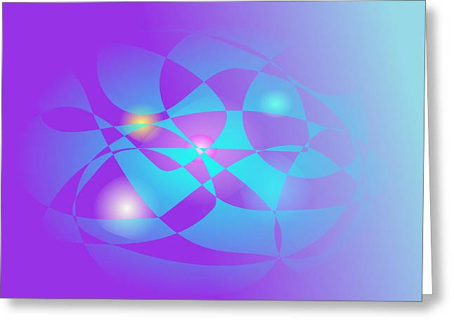 Gradations Digital Art Greeting Cards - Fluorescent Greeting Card by Masaaki Kimura
