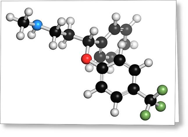 Fluoxetine Antidepressant Drug Molecule Greeting Card by Molekuul