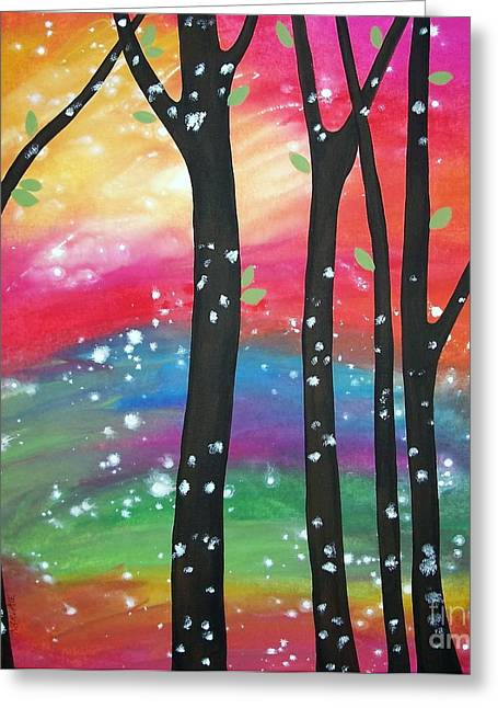 Flurry Greeting Cards - Flurries Greeting Card by Karla Gerard