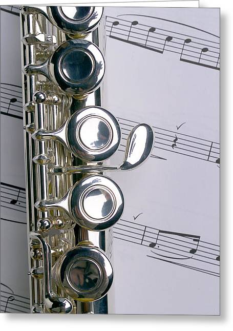 Flutes Greeting Cards - Flute Close Up Greeting Card by Jon Neidert