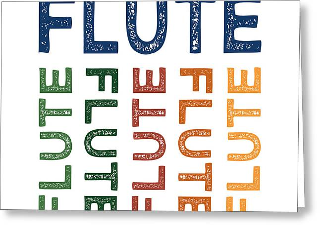 Flute Cute Colorful Greeting Card by Flo Karp