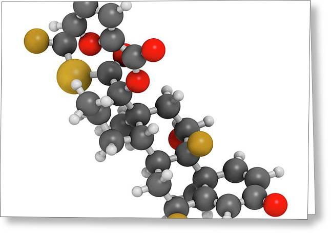 Fluticasone Furoate Corticosteroid Drug Greeting Card by Molekuul