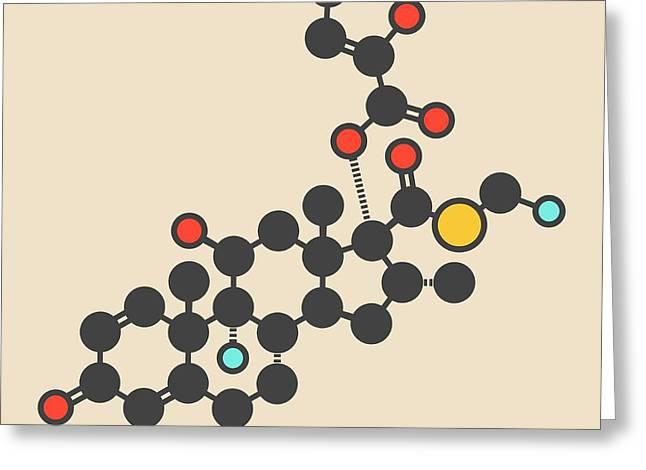 Fluticasone Furoate Molecule Greeting Card by Molekuul